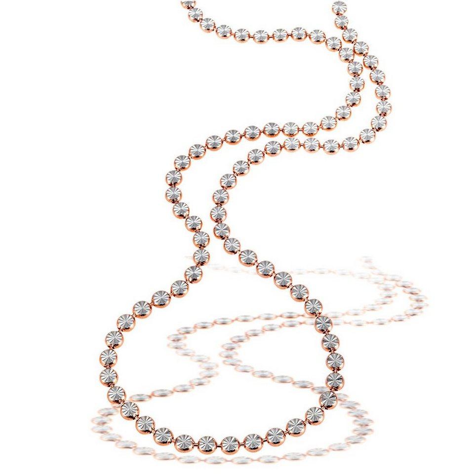 goldmaid Collier 925/- Sterlingsilber teils rot vergoldet, diamantiert in roségoldfarben