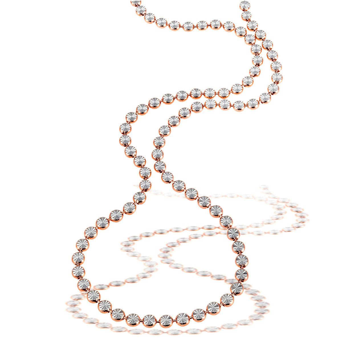 goldmaid Collier 925/- Sterlingsilber teils rot vergoldet, diamantiert