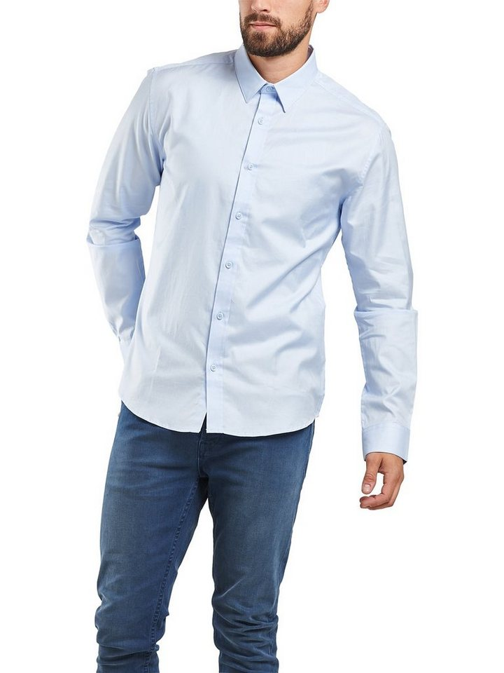 ONLY & SONS Klassisches Langarmhemd in Light Blue Denim