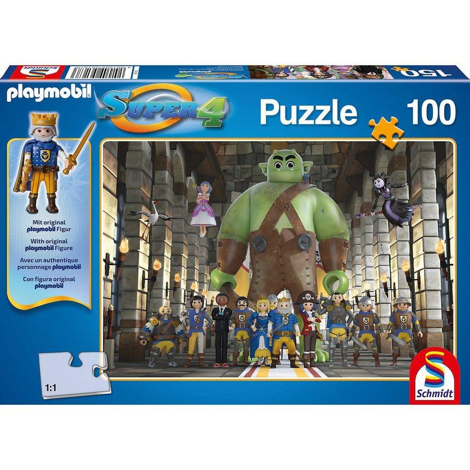 Schmidt Spiele Puzzle SUPER4 (inkl. Figur) Kingsland 100 Teile