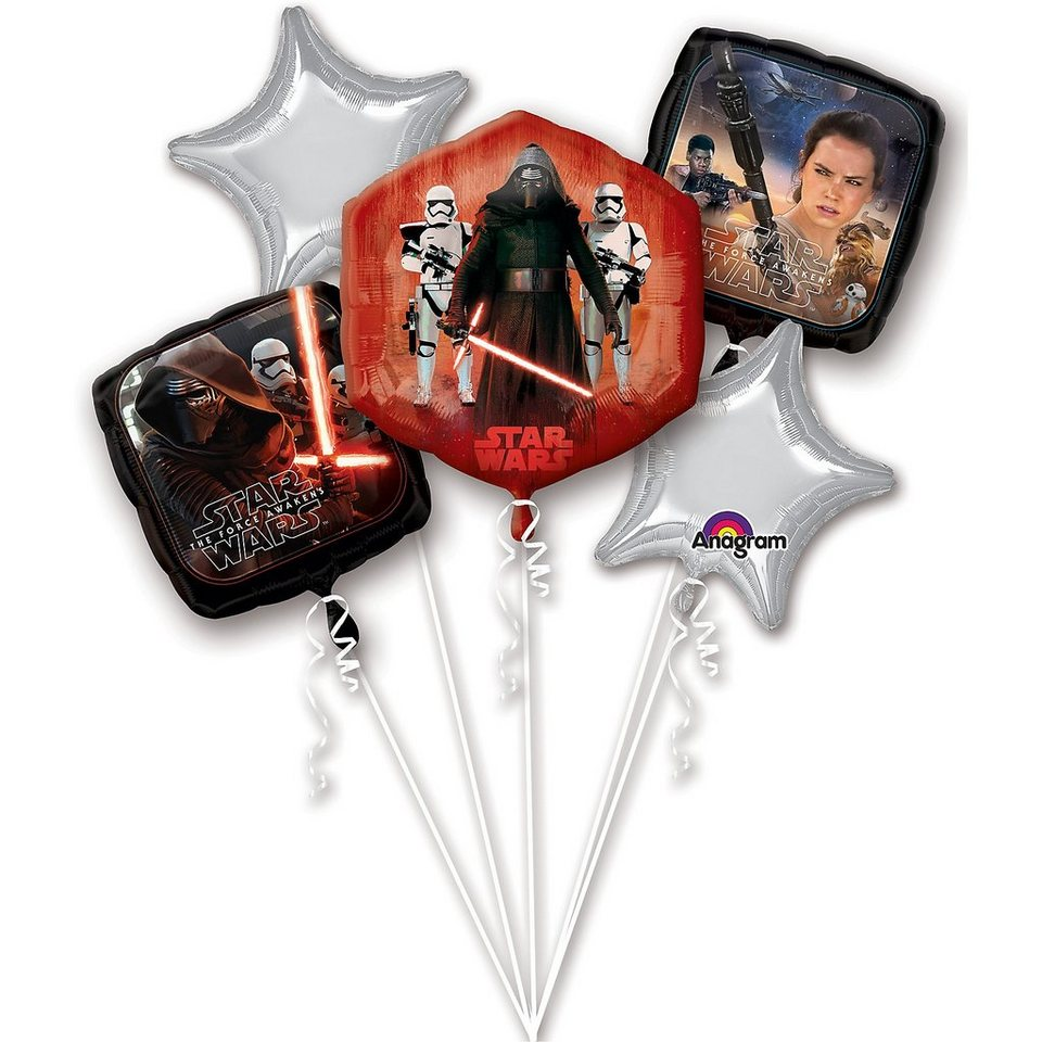 Amscan Folienballon Bouquet Star Wars The Force Awakens Birthday