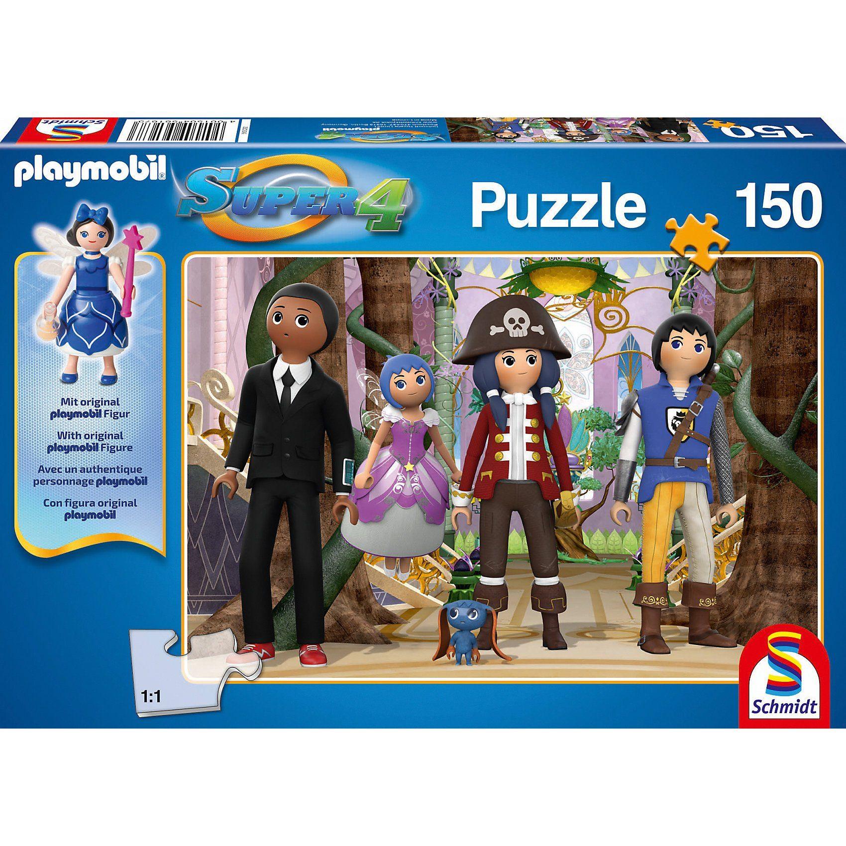 Schmidt Spiele Puzzle SUPER4 (inkl. Figur) Enchanted 150 Teile