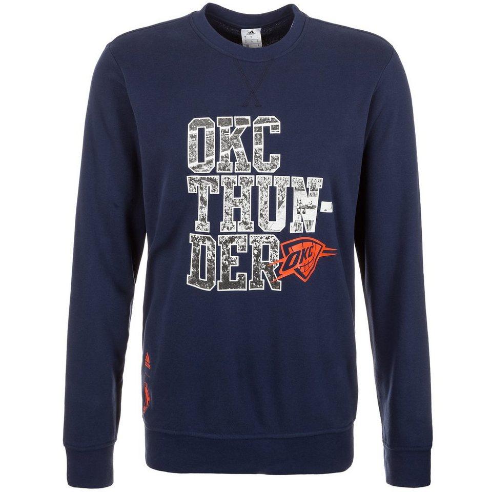 adidas Performance Oklahoma City Thunder GFX Fleece Crew Sweatshirt Herren in dunkelblau