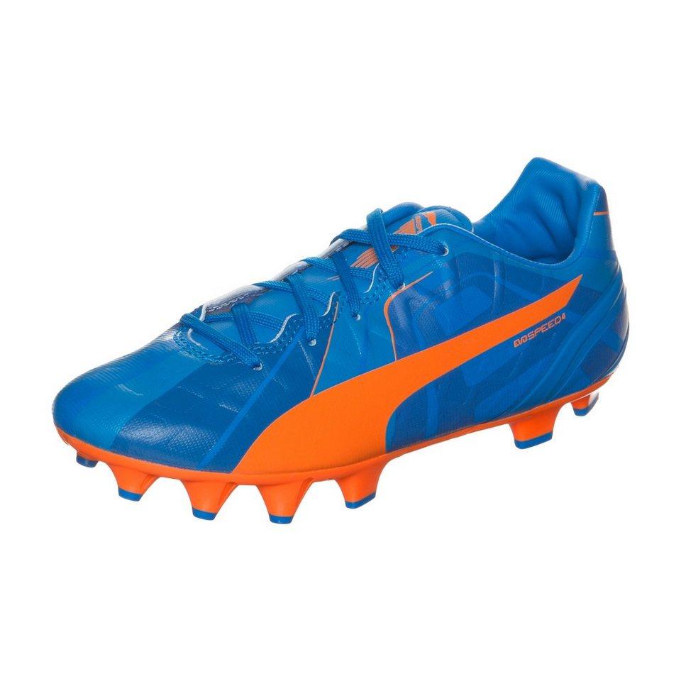PUMA evoSPEED 4 Head To Head FG Fußballschuh Kinder in blau / orange