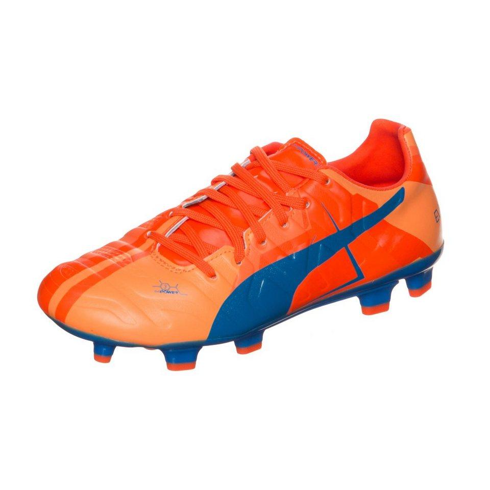 PUMA evoPOWER 3 Head To Head FG Fußballschuh Kinder in orange / blau