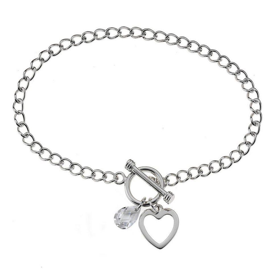 Zeeme Armband »925/- Sterling Silber Zirkonia weiß« in weiß