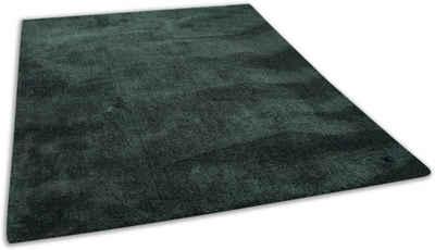 Hochflor-Teppich »Shaggy Teppich Cozy«, TOM TAILOR, rechteckig, Höhe 25 mm, Uni Farben, auch in Pastell Farben, Wohnzimmer