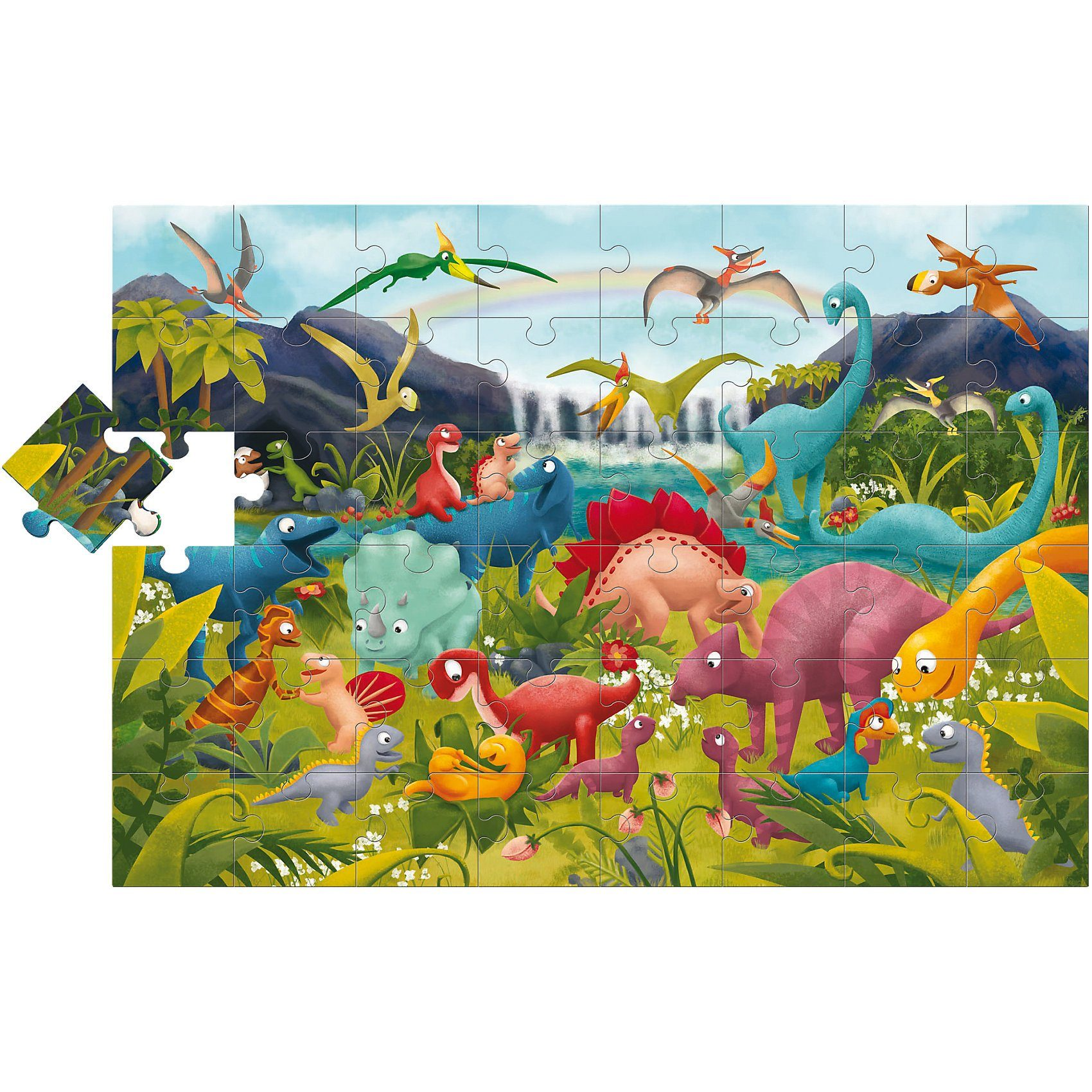 Lisciani Großes Bodenpuzzle - Dinosaurier - 48 Teile