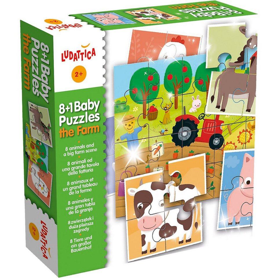 lisciani baby puzzles 8 tiere und ein gro er bauernhof online kaufen otto. Black Bedroom Furniture Sets. Home Design Ideas