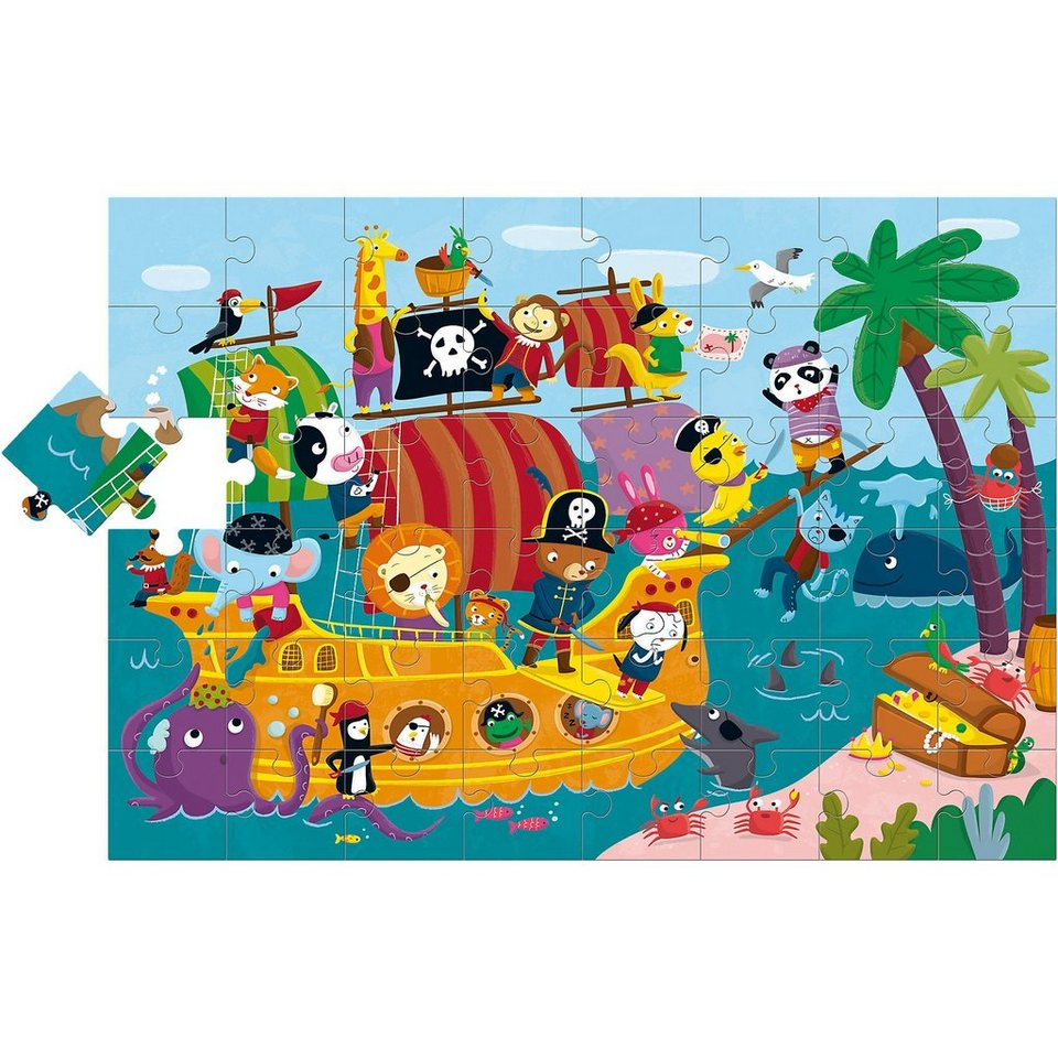 Lisciani Großes Bodenpuzzle - Piratenschiff - 48 Teile