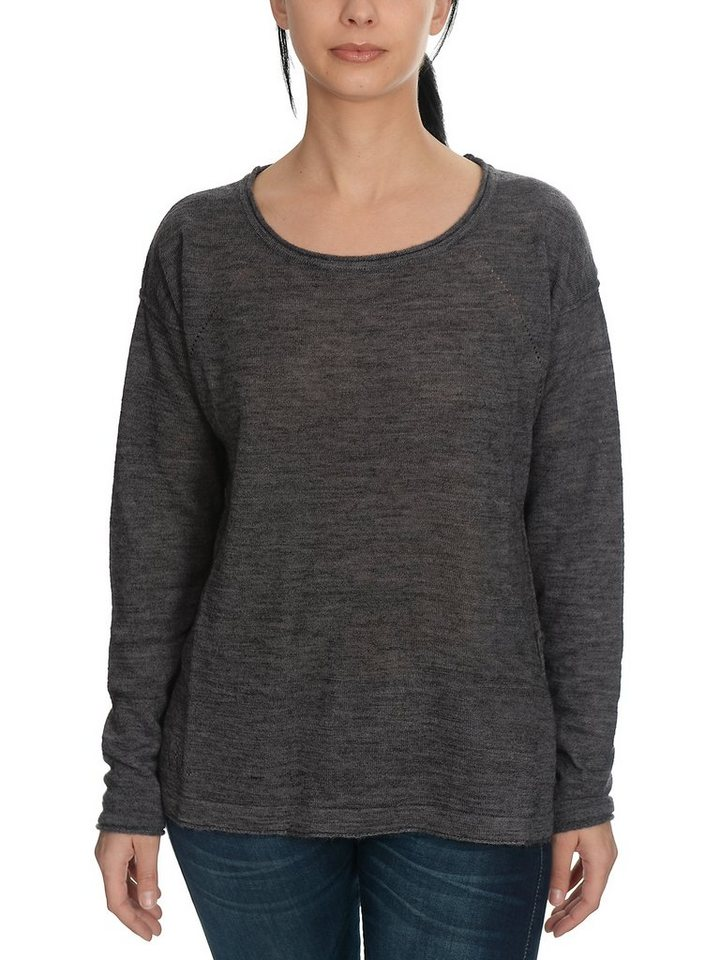 Herrlicher Pullover »Dajana Woll Mix« in dark grey melange