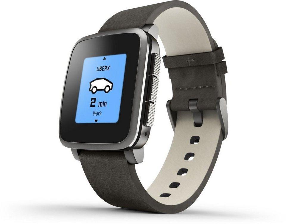 Pebble Smartwatch »Time Steel Smart Watch« in Schwarz