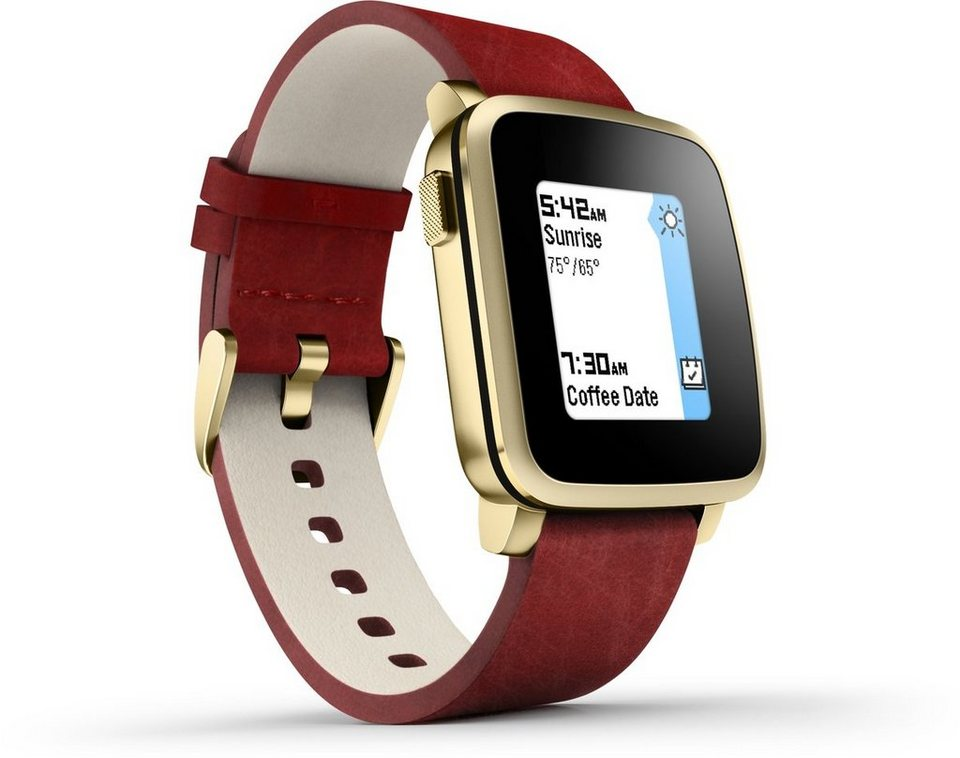 Pebble Smartwatch »Time Steel Smart Watch« in Gold