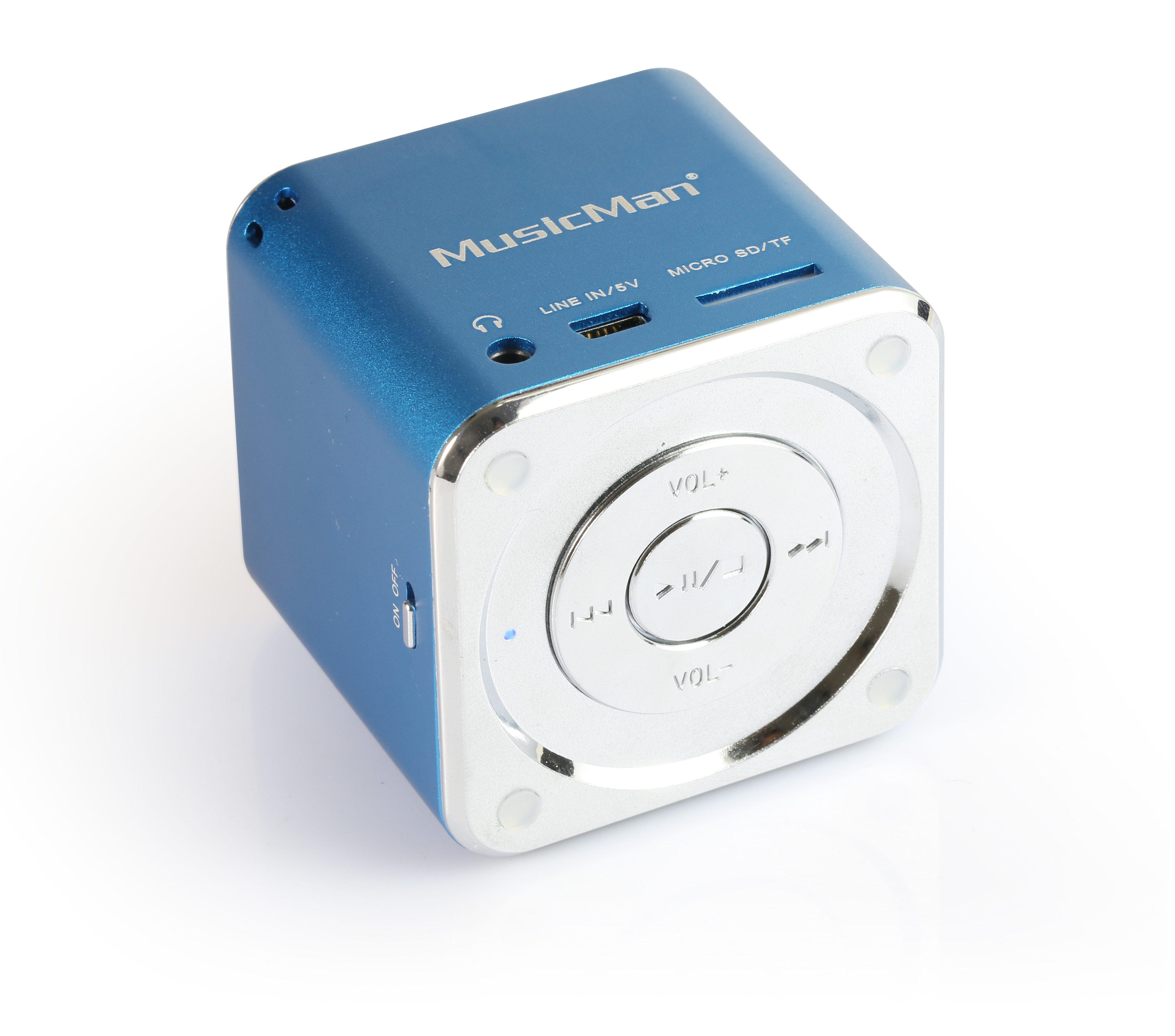Technaxx Lautsprecher »MINI MusicMan SOUNDSTATION Blau«