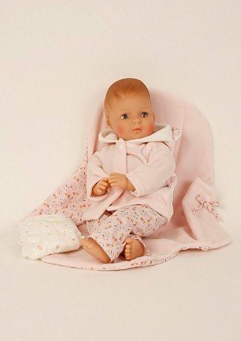 Schildkröt-Puppen Babypuppe, rosa, »Schlenkerle 37cm«