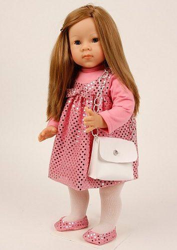 Schildkröt-Puppen Puppe, rosa, »Elli Lindner 52 stehend hellbraun«