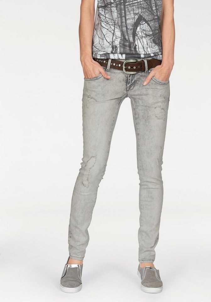 LTB Slim-fit-Jeans »Molly« mit Crinkle-Effekt in grey-malissa-washed