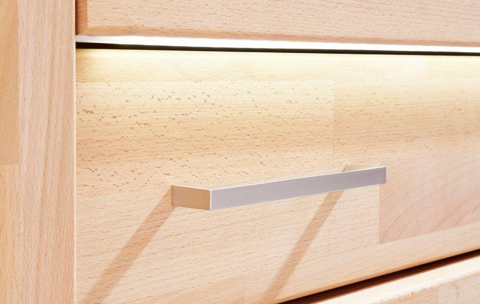 LED-Beleuchtungsleiste mit Glaskantenbeleuchtung in warmweiß