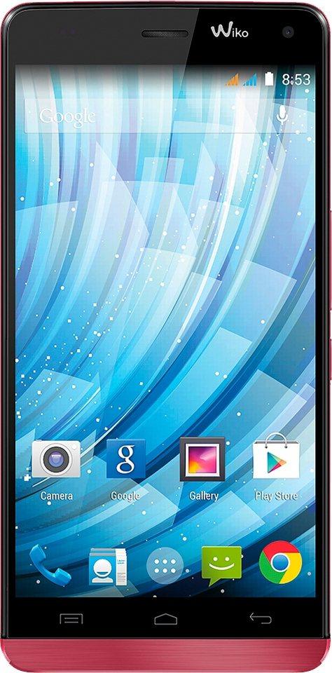 Wiko Getaway Smartphone, 12,7 cm (5 Zoll) Display, Android 4.4, 13,0 Megapixel in rot