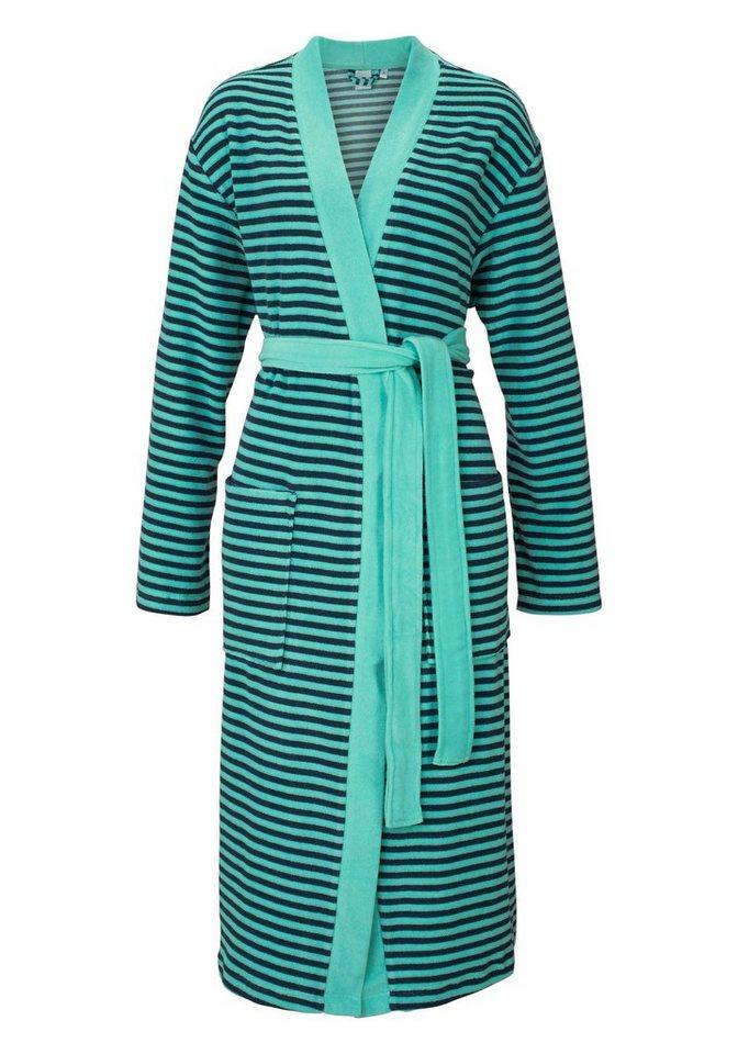 Kimono, H.I.S, »Chelli«, mit feinen Querstreifen in aqua-blau