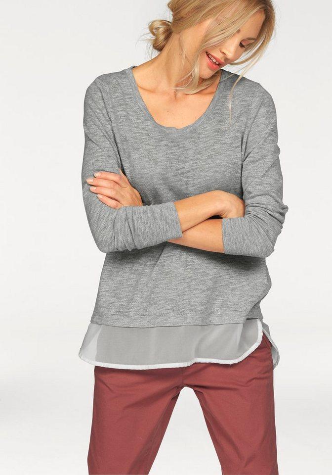 Only 2-in-1-Pullover »Jessy« in grau-meliert