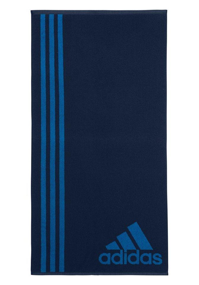Badetuch, adidas Performance, mit drei großen Streifen in marine