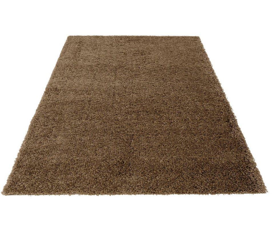 Hochflor-Teppich, Bruno Banani, »Shaggy 50«, Höhe 50 mm, gewebt in sand