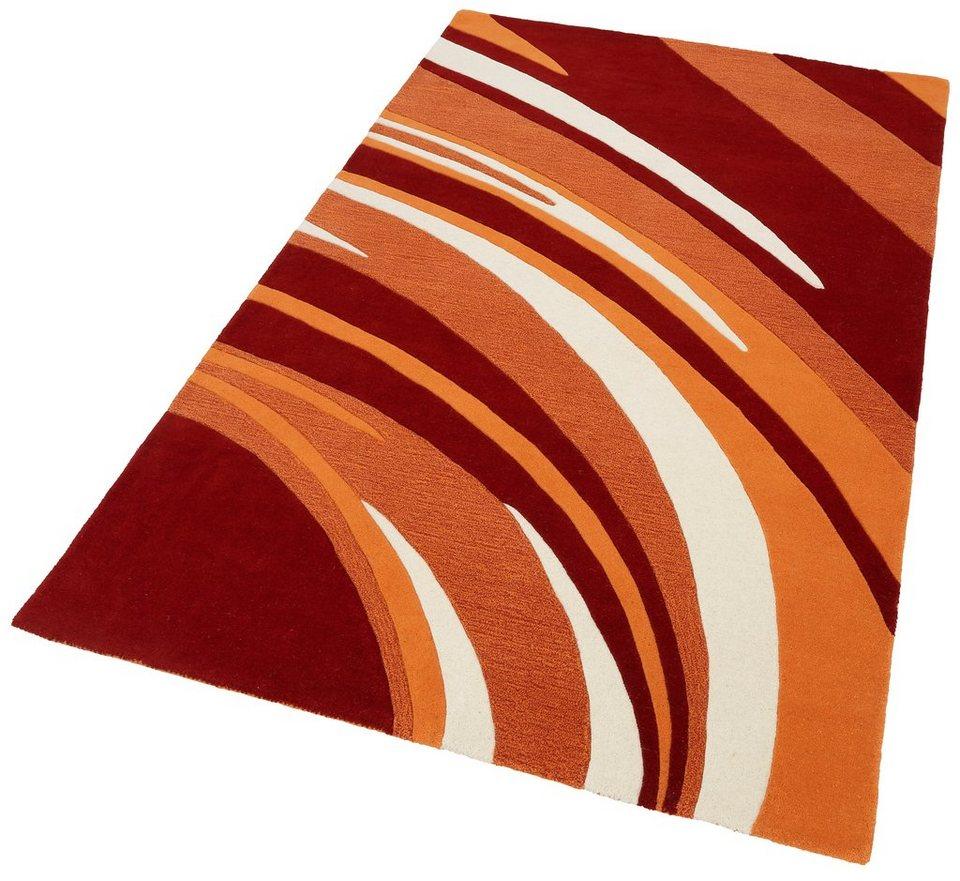 Teppich, Theko exklusiv, »Nurit«, handgearbeitet, reine Schurwolle in terra