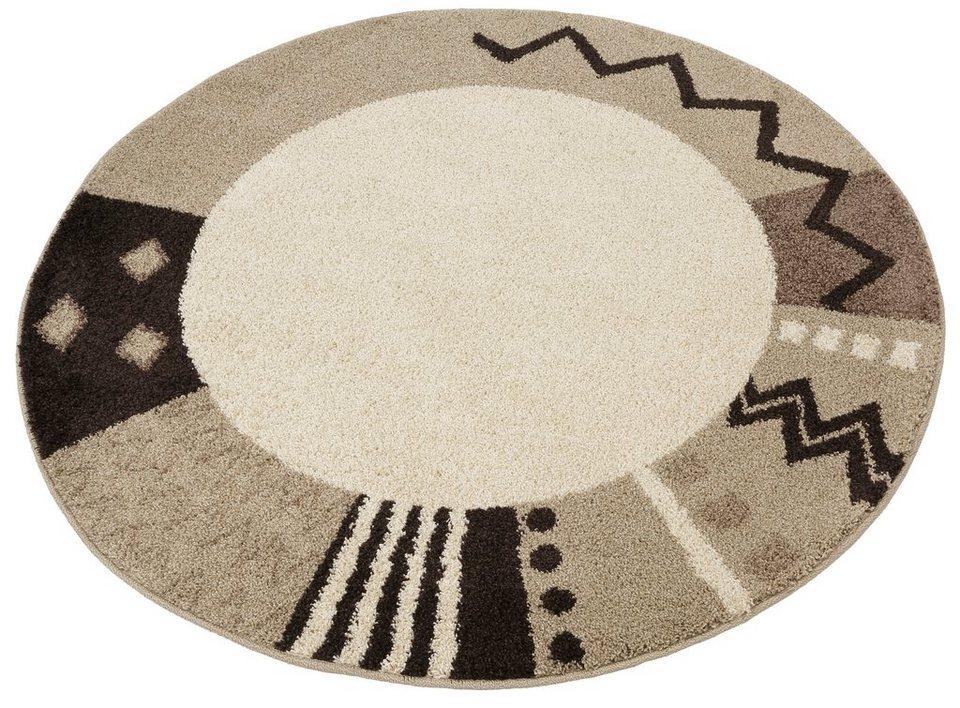 Teppich, rund, Home affaire Collection, »Amarillo«, gewebt in natur
