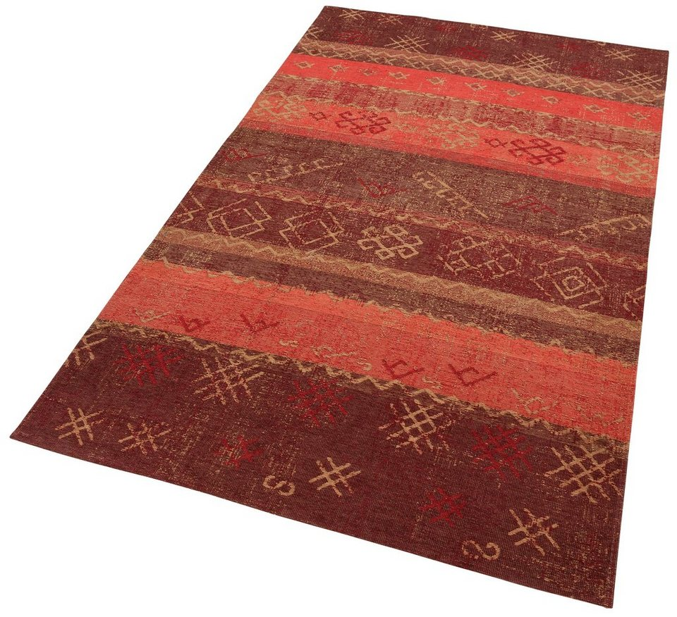 Teppich, Home affaire Collection, »Korsika«, Flachgewebe in rot