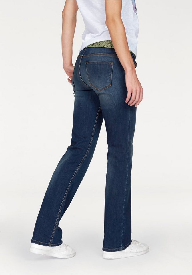 s.Oliver RED LABEL Bootcut-Jeans Stretchige Bootcutform in blue-stone