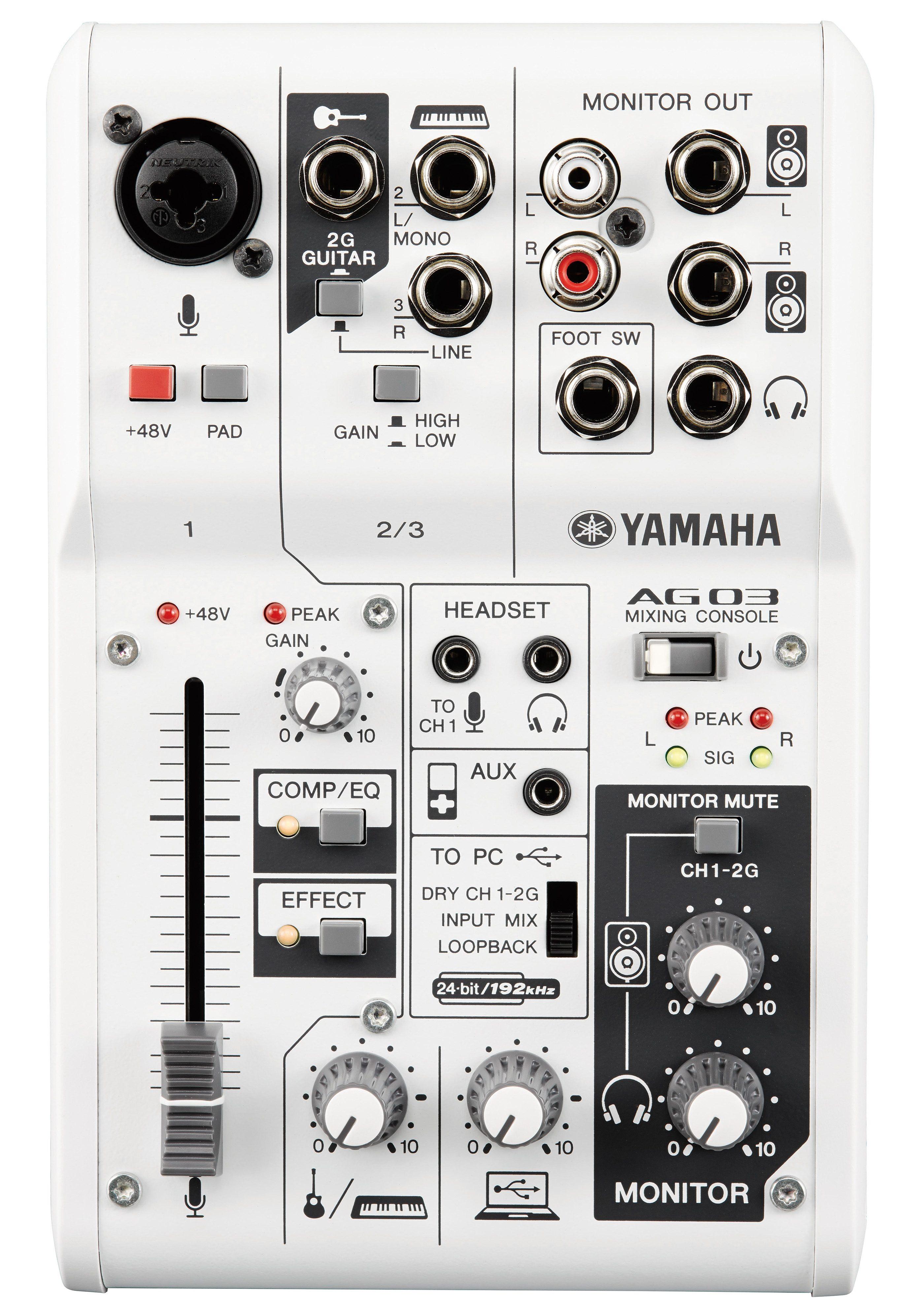 Yamaha Mischpult mit 3 Kanälen, »AG03«