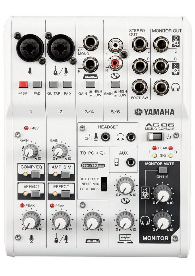 Yamaha Mischpult mit 6 Kanälen, »AG06« in weiß