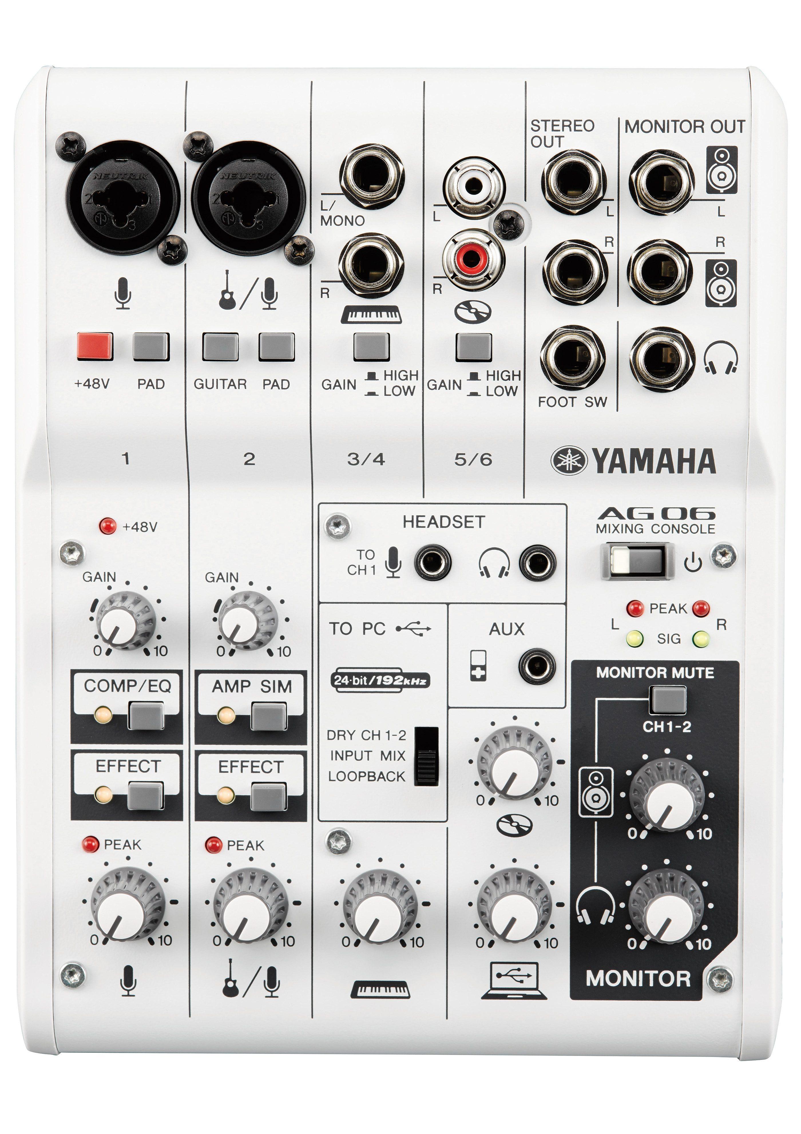Yamaha Mischpult mit 6 Kanälen, »AG06«