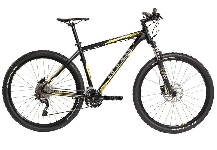 Arinos Mountainbike, Hardtail, 27,5 Zoll, 30 Gang Deore SLX, hydr. Scheibenbremsen in schwarz matt