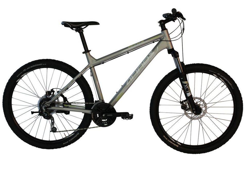 Arinos Mountainbike, Hardtail, 27,5 Zoll, 24 Gang Deore, mech. Scheibenbremsen, silber, »MTX4« in silberfarben