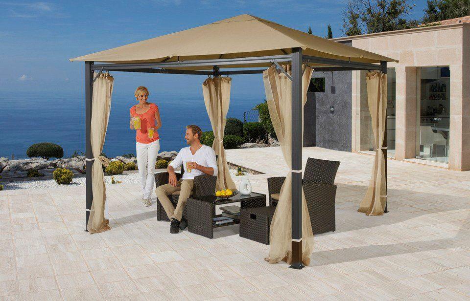 pavillon alu in 2 gr en sandfarben kaufen otto. Black Bedroom Furniture Sets. Home Design Ideas