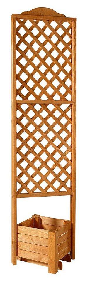 Holzspalier »Eckspalier mit Pflanzkasten 54x210 cm« in braun