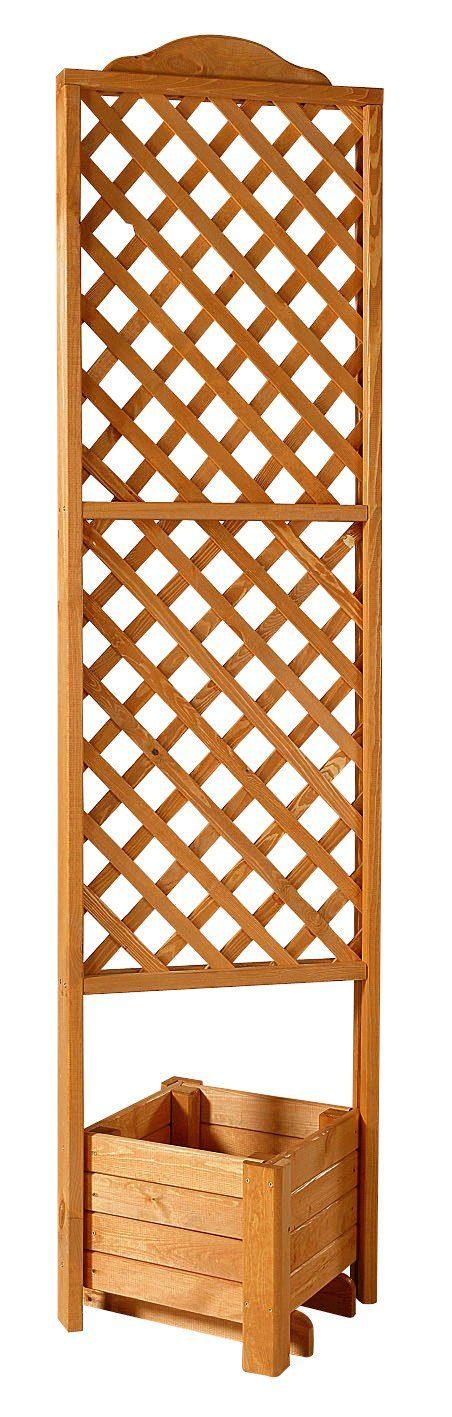 Promadino Holzspalier »Eckspalier mit Pflanzkasten 54x210 cm«