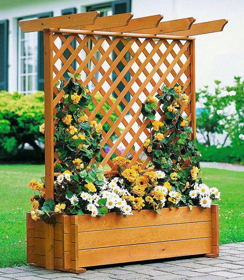Holzspalier »Pergola mit Rankkasten, 102x140 cm« in braun