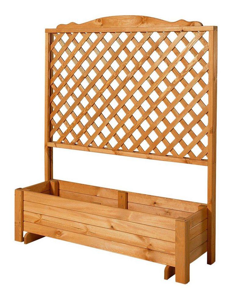 Holzspalier »mit Pflanzkasten, 120x140 cm« in braun
