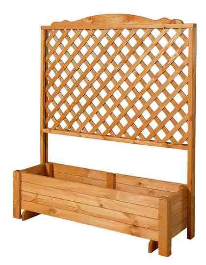 Holzspalier »Romantica«, mit Pflanzkasten, 120x140 cm
