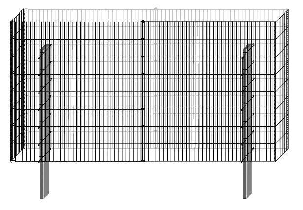 Bellissa Zaun »Gabionen-Mauersystem Limes Basisbausatz 230 x 23 cm« | Garten > Zäune und Sichtschutz | Belissa