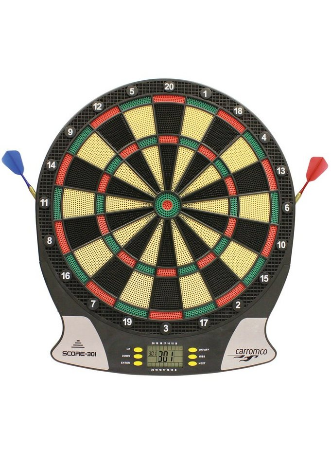 carromco elektronische dartscheibe elektronik dartboard score 301 online kaufen otto. Black Bedroom Furniture Sets. Home Design Ideas