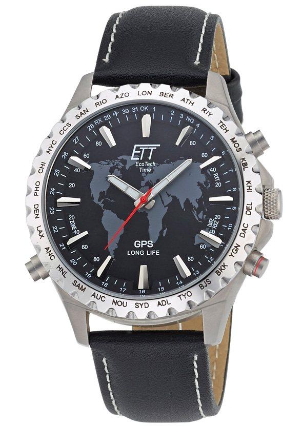 ETT, Herrenarmbanduhr mit GPS, »EGTB-10424-21L« in schwarz
