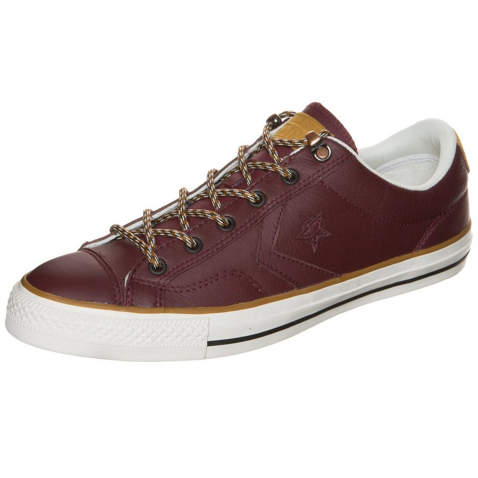 CONVERSE Cons Star Player OX Sneaker in bordeaux / weiß
