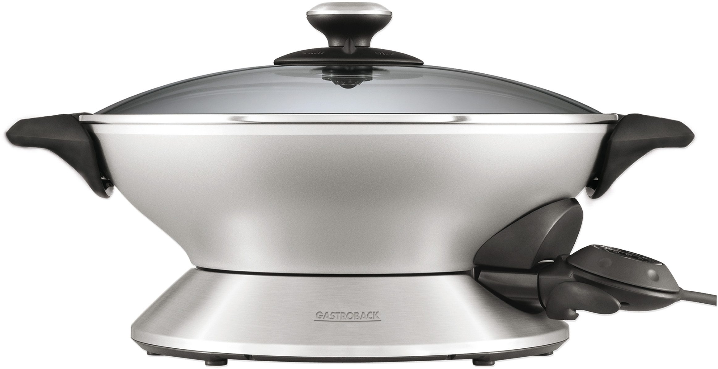 Gastroback Wok >>Design Wok Advanced Pro 42515<<, 2400 Watt, silber/schwarz