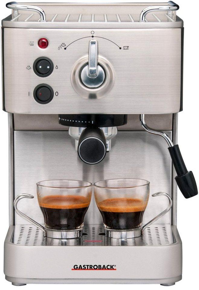 Gastroback Espressomaschine >>Design Espresso Plus 42606<<, 15 bar in silber