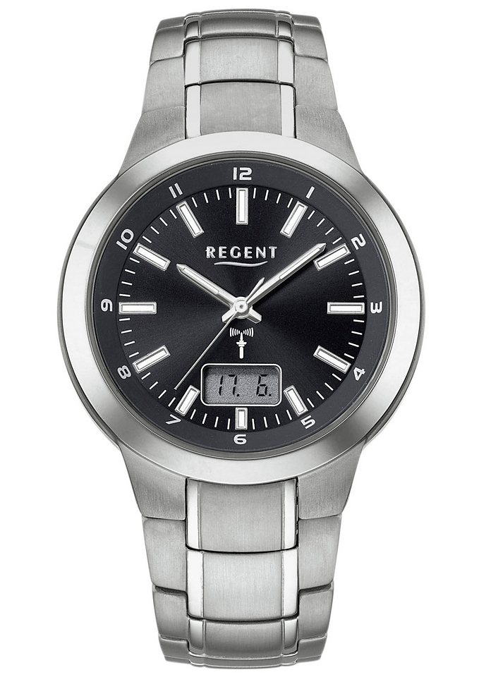Regent Funkuhr »11030064« in titansilberfarben