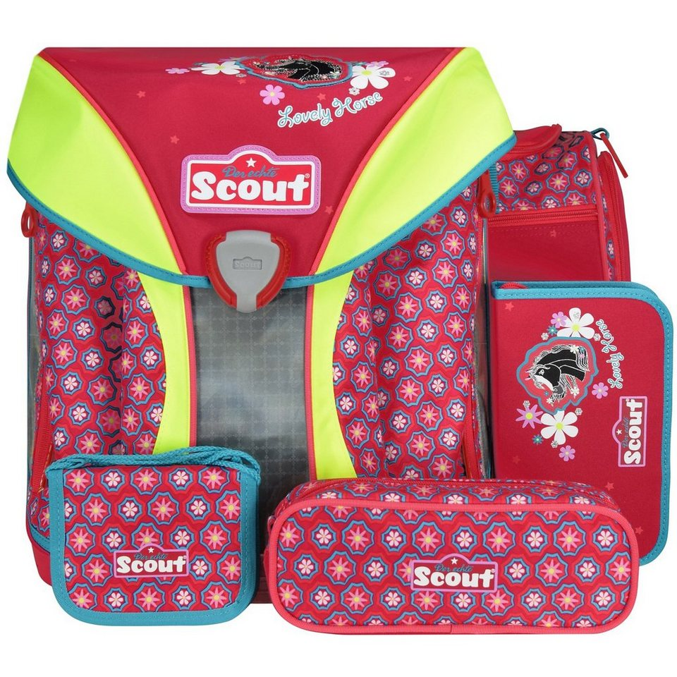 Scout Limited Edition Nano Schulranzen-Set 5-tlg. in Lovely Horse